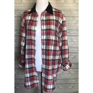 4 for $25 red plaid button down